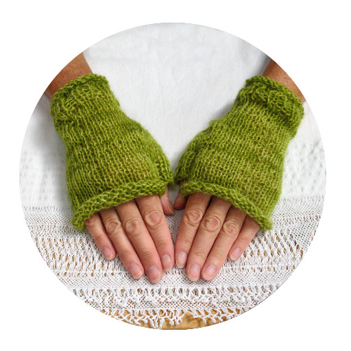 1024 circles rustic gloves